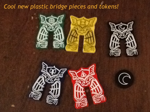 Cool new plastic bridge pieces and tokens!